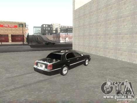 Lincoln Town car sedan pour GTA San Andreas sur la vue arrière gauche
