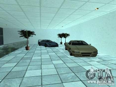 Plus de voitures au salon automobile de Doughert pour GTA San Andreas cinquième écran