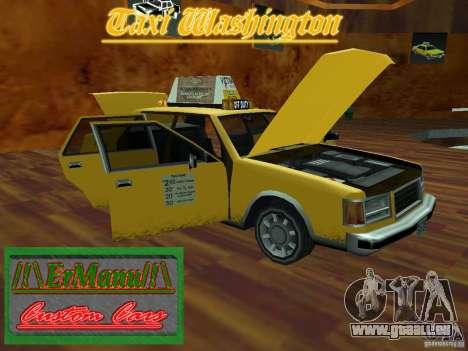 Taxi Washington pour GTA San Andreas vue de droite
