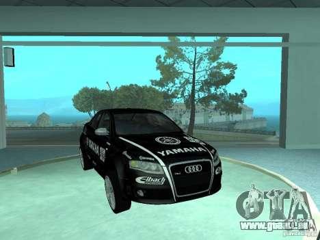 Audi RS4 pour GTA San Andreas vue de dessus
