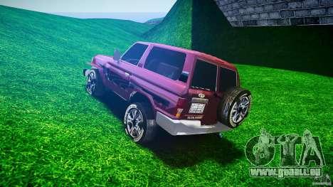 Toyota Land Cruiser 4.5 V2 pour GTA 4 Vue arrière de la gauche