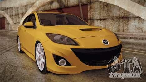 Mazda Mazdaspeed3 2010 für GTA San Andreas linke Ansicht