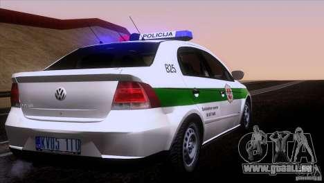 Volkswagen Voyage Policija pour GTA San Andreas vue de droite