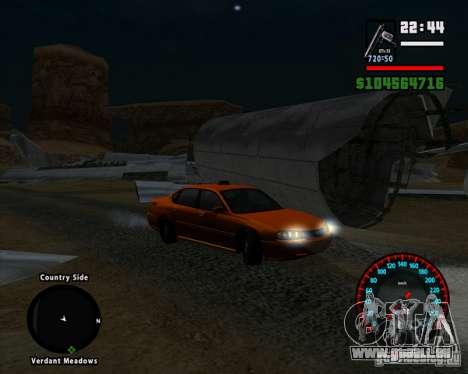 Neue BMW-Tacho für GTA San Andreas dritten Screenshot