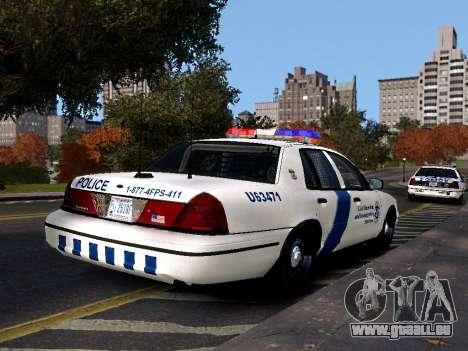 Ford Crown Victoria Homeland Security pour GTA 4 est une gauche
