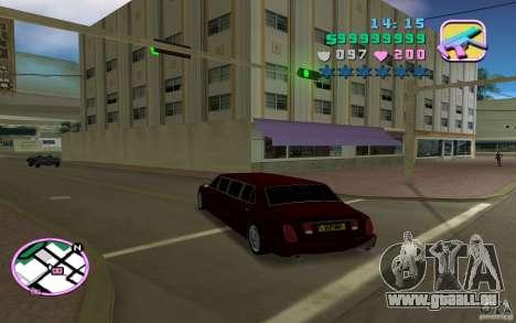 Rolls Royce Silver Seraph pour GTA Vice City sur la vue arrière gauche