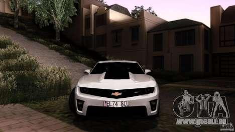 Chevrolet Camaro ZL1 2011 v1.0 pour GTA San Andreas vue intérieure