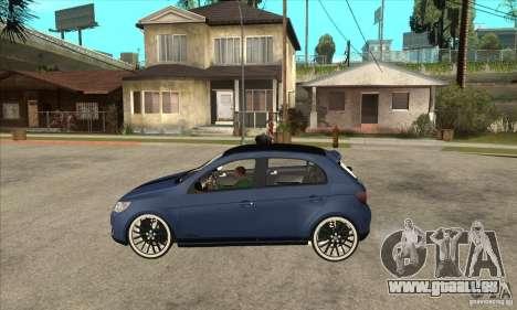 Volkswagen Gol Vintage pour GTA San Andreas laissé vue