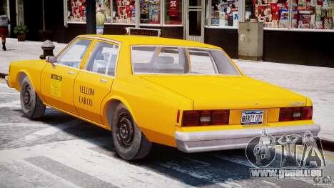 Chevrolet Impala Taxi 1983 [Final] pour GTA 4 est une vue de dessous