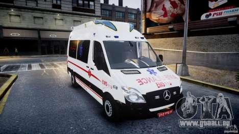 Mercedes-Benz Sprinter Iranian Ambulance [ELS] pour GTA 4 Vue arrière