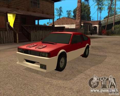 Blistac améliorée pour GTA San Andreas vue arrière