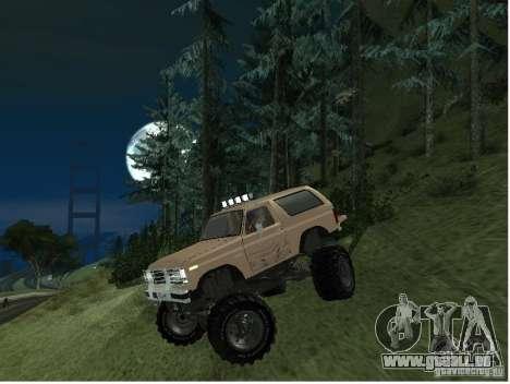 Ford Bronco IV Monster pour GTA San Andreas laissé vue