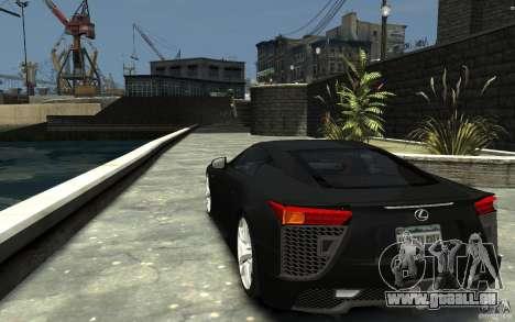 Lexus LFA v1.0 pour GTA 4 Vue arrière de la gauche