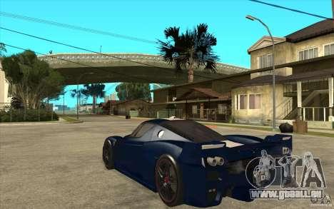 Ferrari FXX 2005 pour GTA San Andreas vue de droite