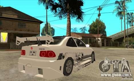 Honda Civic Tuning Tunable pour GTA San Andreas vue intérieure