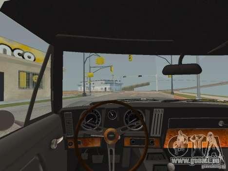 Chevrolet Camaro Z28 für GTA San Andreas Innenansicht