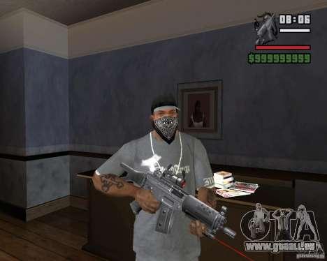 Visée laser Rifle pour GTA San Andreas troisième écran