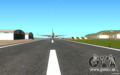 Sukhoi SuperJet-100 pour GTA San Andreas vue de droite