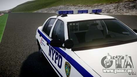 Ford Crown Victoria NYPD [ELS] pour GTA 4 roues