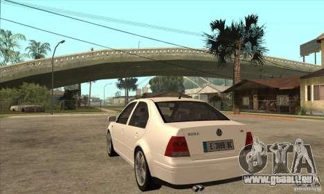 Volkswagen Bora VR6 2003 pour GTA San Andreas sur la vue arrière gauche