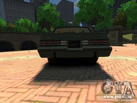 Buick Regal GNX für GTA 4 hinten links Ansicht