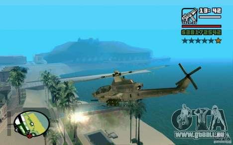 Bell AH-1Z Viper pour GTA San Andreas laissé vue