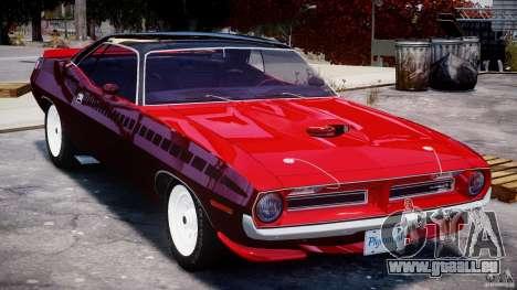 Plymouth Cuda AAR 340 1970 pour GTA 4