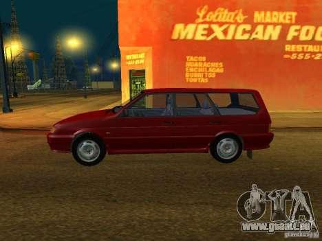 ВАЗ 2114 Touring pour GTA San Andreas sur la vue arrière gauche