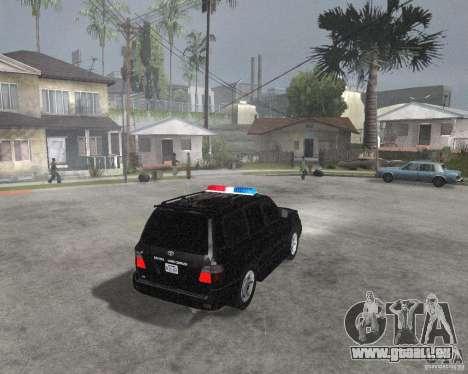 Toyota Land Cruiser 100 VX pour GTA San Andreas vue de droite