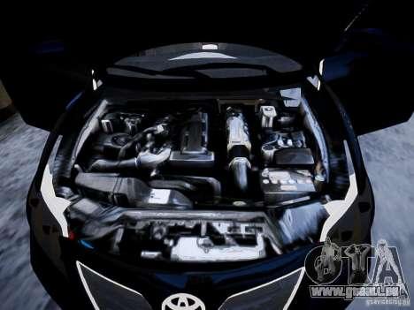 Toyota Camry pour GTA 4 vue de dessus
