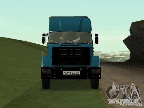 ZIL 133 pour GTA San Andreas sur la vue arrière gauche