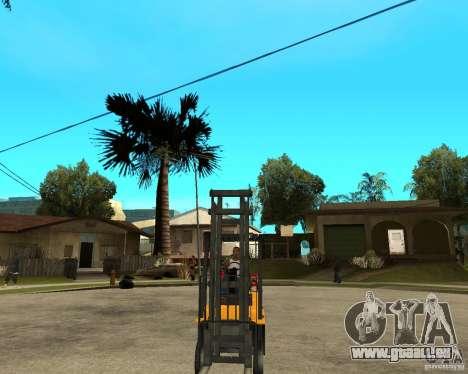 Forklift GTAIV für GTA San Andreas Rückansicht