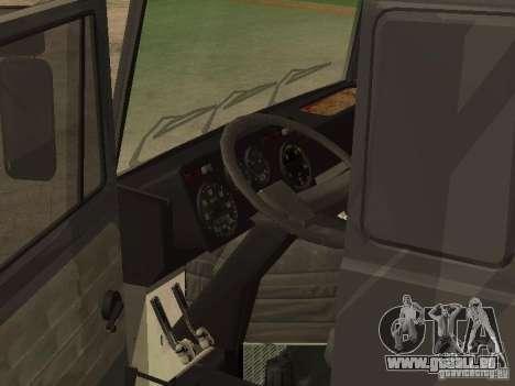 Camion MAZ 5336 pour GTA San Andreas sur la vue arrière gauche