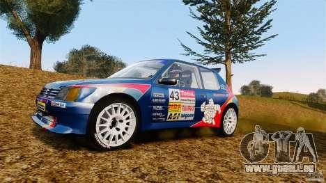 Peugeot 205 Maxi für GTA 4 Rückansicht