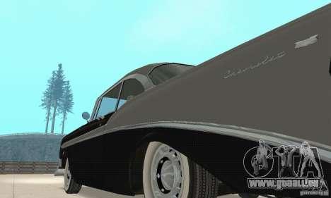 Chevrolet Bel Air 1956 pour GTA San Andreas vue intérieure