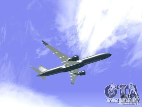 Boeing 757-200 United Airlines für GTA San Andreas Rückansicht