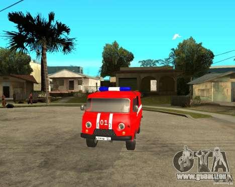 UAZ-pompiers pour GTA San Andreas vue intérieure