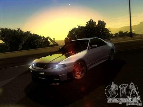 Nissan Skyline GTR BNR33 für GTA San Andreas Innenansicht