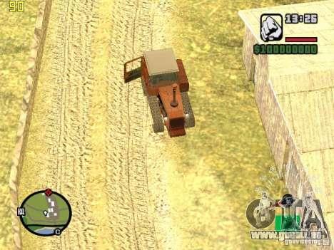 Tracteur DT-75 Postman pour GTA San Andreas vue de dessus