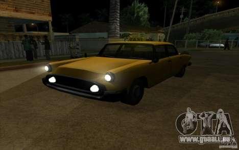 Glendale Cabbie für GTA San Andreas Rückansicht