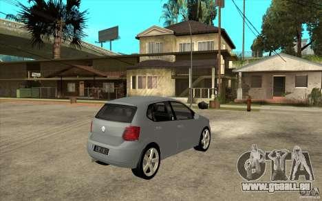 Volkswagen Polo 2011 pour GTA San Andreas vue de droite