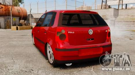 Volkswagen Polo Edit pour GTA 4 Vue arrière de la gauche