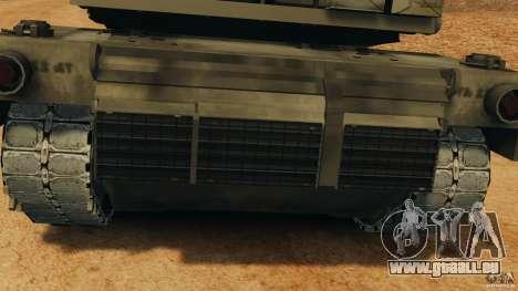 M1A2 Abrams pour GTA 4 est une vue de l'intérieur