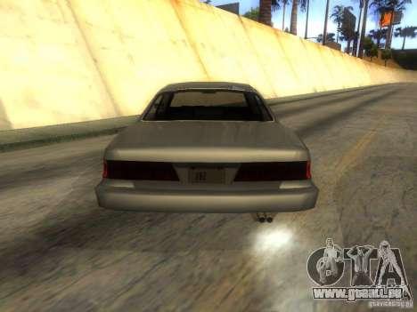 Merit Coupe pour GTA San Andreas sur la vue arrière gauche