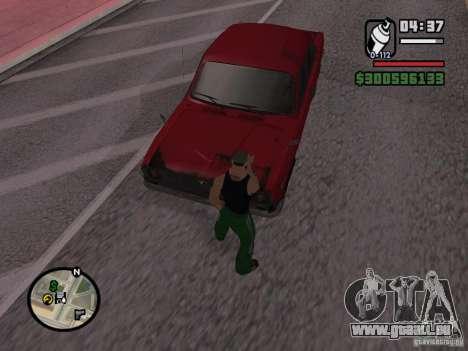Repeindre de l'actionneur pour GTA San Andreas quatrième écran