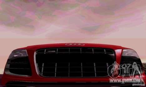 Audi R8 V10 Spyder 5.2. FSI pour GTA San Andreas vue intérieure