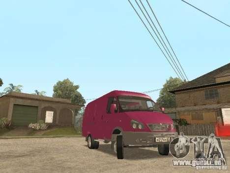 Gazelle 2705 pour GTA San Andreas vue de dessus