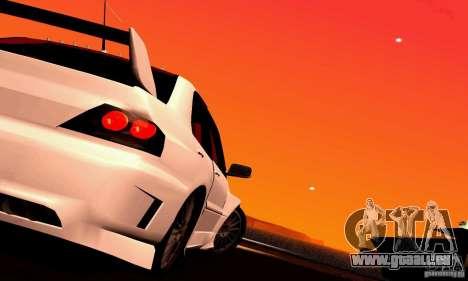 Mitsubishi Lancer Evo VII pour GTA San Andreas sur la vue arrière gauche