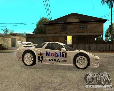 2001 Honda Mobil 1 NSX JGTC pour GTA San Andreas vue de droite