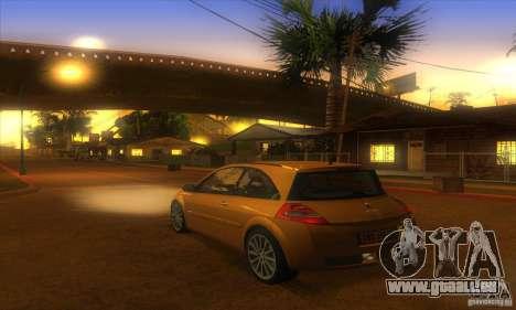 Renault Megane RS II V1.0 pour GTA San Andreas laissé vue
